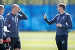 17.05.2019 Rangers training: Gary McAllister and Steven Gerrard