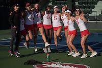 Stanford, CA - Stanford Women's Tennis Host San Jose State at Taube Family Tennis Center.