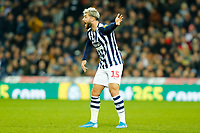 29th December 2019; The Hawthorns, West Bromwich, West Midlands, England; English Championship Football, West Bromwich Albion versus Middlesbrough; Charlie Austin of West Bromwich Albion shouts at the referee following a contentious decision - Strictly Editorial Use Only. No use with unauthorized audio, video, data, fixture lists, club/league logos or 'live' services. Online in-match use limited to 120 images, no video emulation. No use in betting, games or single club/league/player publications