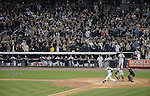 Derek Jeter (Yankees),<br /> SEPTEMBER 25, 2014 - MLB :<br /> Derek Jeter of the New York Yankees hits an RBI double in the first inning during the Major League Baseball game against the Baltimore Orioles at Yankee Stadium in the Bronx, New York, United States. (Photo by AFLO)