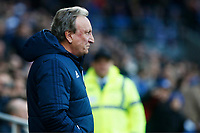 Cardiff City manager Neil Warnock prior to kick off of the Fly Emirates FA Cup Fourth Round match between Cardiff City and Manchester City at the Cardiff City Stadium, Wales, UK. Sunday 28 January 2018