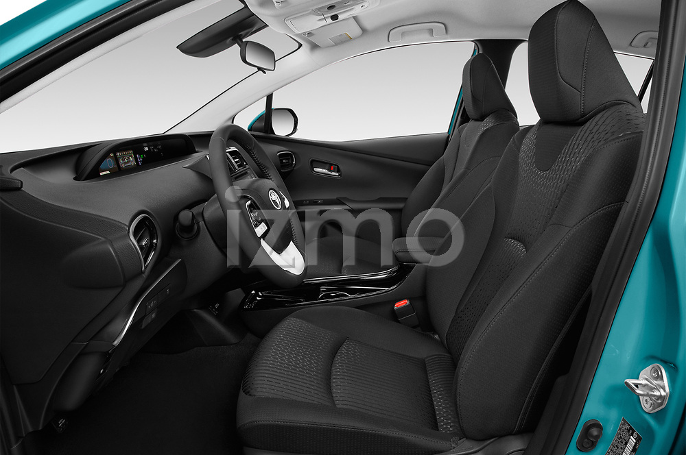 Front seat view of 2018 Toyota Prius-Prime Plus 5 Door Hatchback Front Seat  car photos