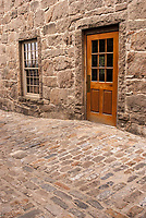 "Cobble stones define colonial New England; New Bedford, Massachusetts, was called ""The whaling City""."