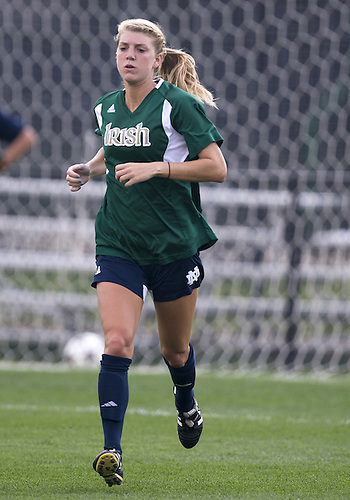 September 01, 2013:  Notre Dame defender Taylor Schneider (17) during NCAA Soccer match between the Notre Dame Fighting Irish and the UCLA Bruins at Alumni Stadium in South Bend, Indiana.  UCLA defeated Notre Dame 1-0.