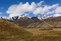 Grabh&uuml;gel der Skythen n&ouml;rdlich des  Issyk Kul See, Kirgistan, Asien<br /> burial mound of Skythians  north of Issyk Kul Lake, Kirgistan, Asia