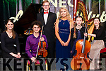 Rotary Club Killarney Young Musician of the Year finalists l-r Eva Buckley, Harry O'Connor, Alan McLoughlin, Laura Hynes, Katrina Robert and Emily Sullivan pictured in the INEC Acoustic Club, Killarney last Saturday night.