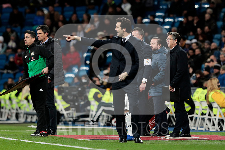 Real Madrid's coach Santiago Solari during Copa Del Rey match between Real Madrid and CD Leganes at Santiago Bernabeu Stadium in Madrid, Spain. January 09, 2019. (ALTERPHOTOS/A. Perez Meca)
