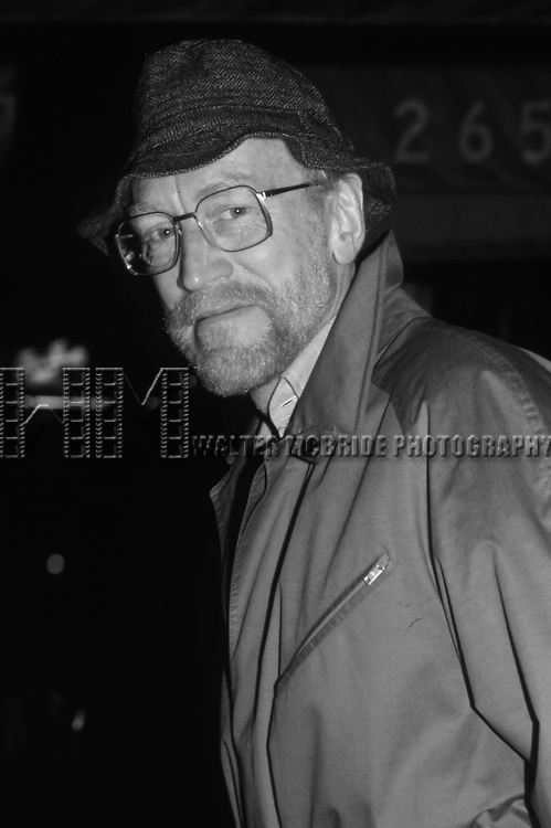 "Max Von Sydow after the final Broadway performance of ""Duet for One"" on January 2, 1982 at the Royale Theatre in New York City."