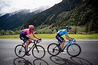 Mikel Landa (ESP/Movistar) & Hugh Carthy (GBR/EF Education First)<br /> <br /> Stage 17: Commezzadura (Val di Sole) to Anterselva/Antholz (181km)<br /> 102nd Giro d'Italia 2019<br /> <br /> ©kramon
