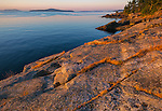 Saltspring Island, British Columbia: Dawn light on rocky coast of Beaver Point and Swanson Channel, Ruckle Provincial Park