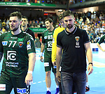 09.06.2019, Max Schmeling Halle, Berlin, GER, DHB,  1.HBL,  FUECHSE BERLIN VS. HSG Wetzlar,<br /> DHB regulations prohibit any use of photographs as image sequences and/or quasi-video<br /> im Bild Johan Koch (Fuechse Berlin #77), Fabian Wiede (Fuechse Berlin #3)<br /> <br />      <br /> Foto © nordphoto / Engler