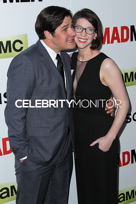"""HOLLYWOOD, LOS ANGELES, CA, USA - APRIL 02: Rich Sommer, Virginia Donohoe Sommer at the Los Angeles Premiere Of AMC's """"Mad Men"""" Season 7 held at ArcLight Cinemas on April 2, 2014 in Hollywood, Los Angeles, California, United States. (Photo by Xavier Collin/Celebrity Monitor)"""
