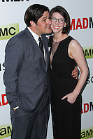 "HOLLYWOOD, LOS ANGELES, CA, USA - APRIL 02: Rich Sommer, Virginia Donohoe Sommer at the Los Angeles Premiere Of AMC's ""Mad Men"" Season 7 held at ArcLight Cinemas on April 2, 2014 in Hollywood, Los Angeles, California, United States. (Photo by Xavier Collin/Celebrity Monitor)"