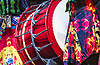 London, UK. 13.03.2017. Yamato Drummers of Japan return to The Peacock from 14 - 25 March 2017 with the UK premiere of Chousensha - The Challengers. The ancient Japanese art of Taiko drumming is traditionally used in Shinto rituals. Picture Shows: Yamato Drummers. Photo - © Foteini Christofilopoulou.