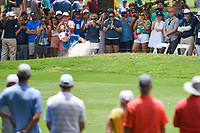 Jordan Spieth (USA) hits from the fairway bunker on 2 during round 4 of the 2019 Charles Schwab Challenge, Colonial Country Club, Ft. Worth, Texas,  USA. 5/26/2019.<br /> Picture: Golffile | Ken Murray<br /> <br /> All photo usage must carry mandatory copyright credit (© Golffile | Ken Murray)
