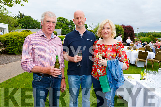 Patrick Casey, Maurice and Molly Carroll at the Dairymaster 50th Anniversary BBQ in the Ballygarry Hotel on Sunday.