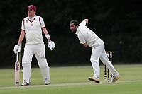 M Malik of Ilford during Brentwood CC vs Ilford CC, Shepherd Neame Essex League Cricket at The Old County Ground on 8th June 2019