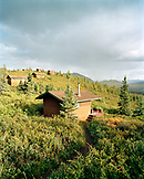 USA, Alaska, Camp Denali cabins in Denali National Park