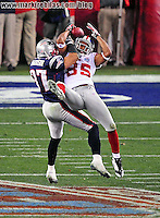 Feb 3, 2008; Glendale, AZ, USA; during Super Bowl XLII at the University of Phoenix Stadium.  The New York Giants defeated the New England Patriots 17-14.  Mandatory Credit: Mark J. Rebilas-US PRESSWIRE