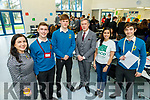 Elaine Nevin (ECO-UNESCO), Darragh Hennessy, Sean Pollmann-Daamen, Shane Kissane (Deputy Principal Mounthawk), Samantha Andrades (Communication Officer ECO-UNESCO) and Padraig Harrington attending the ECO UNESCO Young Environmental Ideas Fest in Mercy Mounthawk school on Thursday.