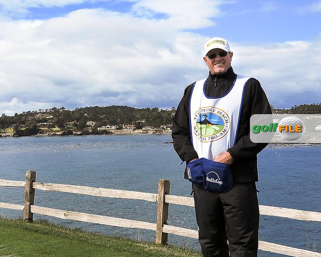 08 FEB 13  Scott Martin at The Pebble Beach Golf Links in Carmel, California. (photo:  kenneth e.dennis / kendennisphoto.com) Byline: Ken Dennis/ www.golffile.ie