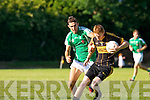 In Action Currow's Timmy O'Leary and David Griffin st. Brendans  at the  Currow Vs St. Brendans in the Kerry Senior County Football Championship Round 2 at Currow GAA field on Friday