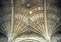Cambridge: King's College Chapel--detail of fan vaulting. John Wastell, Master Mason. Photo '82.