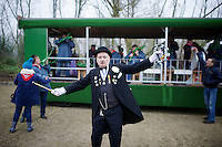 local folklore brass band plays alongside the course <br /> <br /> Flandriencross Hamme 2014