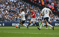 Manchester United's Ander Herrera scores his side's second goal <br /> <br /> Photographer Rob Newell/CameraSport<br /> <br /> Emirates FA Cup - Emirates FA Cup Semi Final - Manchester United v Tottenham Hotspur - Saturday 21st April 2018 - Wembley Stadium - London<br />  <br /> World Copyright &copy; 2018 CameraSport. All rights reserved. 43 Linden Ave. Countesthorpe. Leicester. England. LE8 5PG - Tel: +44 (0) 116 277 4147 - admin@camerasport.com - www.camerasport.com