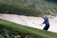 Roberto Castro (USA) hits a shot out of a bunker on the 11th hole during the Wednesday practice round of the 118th U.S. Open Championship at Shinnecock Hills Golf Club in Southampton, NY, USA. 13th June 2018.<br /> Picture: Golffile | Brian Spurlock<br /> <br /> <br /> All photo usage must carry mandatory copyright credit (&copy; Golffile | Brian Spurlock)