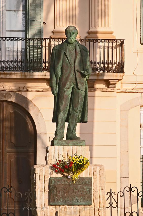 Statue of Santiago Rusinol. Sitges, Catalonia, Spain
