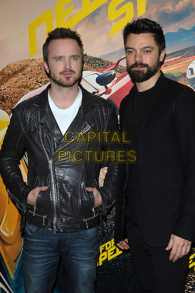 LONDON, UK - FEBRUARY 26 - Aaron Paul and Dominic Cooper<br /> attend and introduce a fan screening of their new film, Need For Speed, at the Odeon West End, Leicester Square, London on Wednesday, February 26, 2014. <br /> CAP/CJ<br /> &copy;Chris Joseph/Capital Pictures