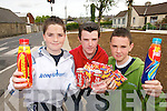 FAST: Pupils from St. Itas College in Abbeyfeale who took part in a Fast to raise funds for Concern..L/r. Emmet White (Athea), Diarmuid Gleeson (Mountcollins) and Tony O'Sullivan (Athea)..