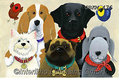 Kate, CUTE ANIMALS, LUSTIGE TIERE, ANIMALITOS DIVERTIDOS, paintings+++++Canine Rogues Gallery.,GBKM476,#ac#, EVERYDAY