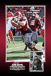 Memorabilia print for Joe Dahl from the 2015 Washington State football season in which the Cougs went 9-4, including a Sun Bowl victory over the Miami Hurricanes.