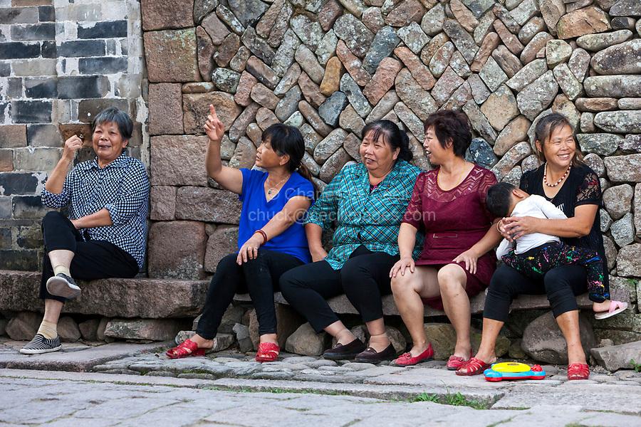 Cangpo, Zhejiang, China.  Village Women in Conversation.
