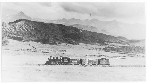 RGS #461 with a scrap train heading south from Dallas Divide.<br /> RGS  Dallas Divide, CO  Taken by Krause, John