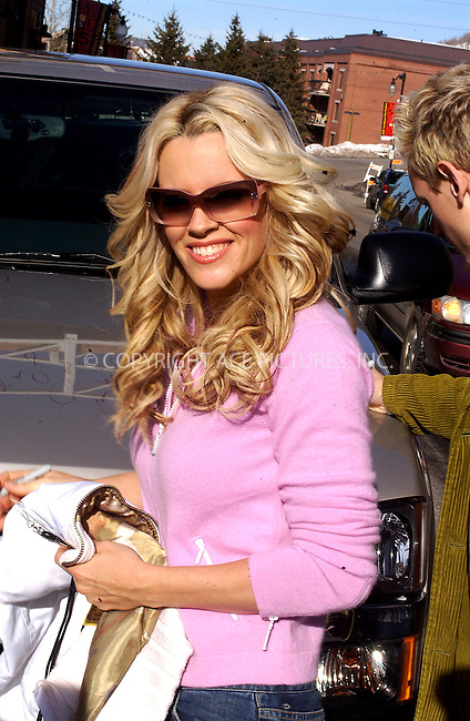 WWW.ACEPIXS.COM . . . . .  ....PARK CITY, UTAH, JANUARY 21, 2005....Jenny McCarthy posing up on Main Street after signing her name on a GMC truck's hood at the Sundance Film Festival. ....Please byline: Ian Wingfield - ACE PICTURES..... *** ***..Ace Pictures, Inc:  ..Alecsey Boldeskul (646) 267-6913 ..Philip Vaughan (646) 769-0430..e-mail: info@acepixs.com..web: http://www.acepixs.com