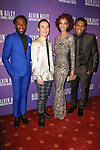"""Left to right, dancers Chalvar Monteiro, Kanji Segawa, Fana Tesfagiorgis and Solomon Dumas arrive at the Alvin Ailey American Dance Theater """"Modern American Songbook"""" opening night gala benefit at the New York City Center on November 29, 2017."""