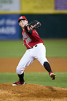 Hickory Crawdads relief pitcher Jacob Shortslef (30) in action against the Lexington Legends at L.P. Frans Stadium on April 29, 2016 in Hickory, North Carolina.  The Crawdads defeated the Legends 6-2.  (Brian Westerholt/Four Seam Images)
