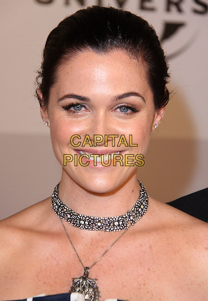 DEN WOODS .NBC Universal 68th Annual Golden Globe Awards After Party held at the Beverly Hilton, Beverly Hills, California, USA..January 16th, 2011.headshot portrait silver choker necklace .CAP/ADM/CH.©Charles Harris/AdMedia/Capital Pictures