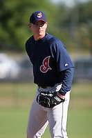 Cleveland Indians minor leaguer Josh Tomlin during Spring Training at the Chain of Lakes Complex on March 17, 2007 in Winter Haven, Florida.  (Mike Janes/Four Seam Images)