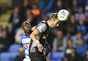 30th September 2017, Madejski Stadium, Reading, England; EFL Championship football, Reading versus Norwich City; James Husband of Norwich City intercepts the header from Modou Barrow of Reading