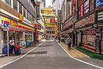 Yodibashi Camera shop in backstreet of Shinjuku, Tokyo, Japan