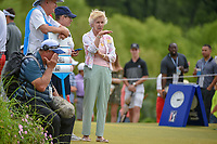 Peggy Nelson, wife of Byron Nelson looks over the tee boxes at 1 and 10 during round 4 of the AT&T Byron Nelson, Trinity Forest Golf Club, at Dallas, Texas, USA. 5/20/2018.<br /> Picture: Golffile | Ken Murray<br /> <br /> All photo usage must carry mandatory copyright credit (© Golffile | Ken Murray)