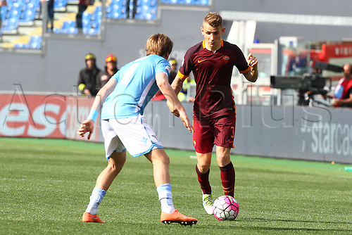 03.04.2016. Stadium Olimpico, Rome, Italy.  Serie A football league. Derby Match SS Lazio versus AS Roma. Digne Lucas in action