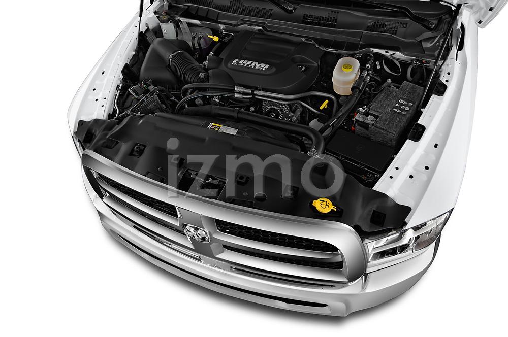 Car stock 2017 Ram Ram 2500 Pickup Tradesman 4wd Crew Cab LWB 4 Door Pick Up engine high angle detail view