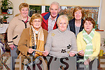 Killarney artist Margaret Kenny, pictured as she presented the proceeds of her recent art exhibition to the Killarney Branch of the Irish Wheelcahir Association and the South Kerry MS in Killarney on Wednesday. Pictured are Rosemarie Nolan, Margaret Kenny, Breda O'Dwyer, Nora O'Sullivan, Jeremiah O'Gorman and Norrie O'Neill...