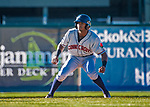 19 June 2018: Connecticut Tigers outfielder Darwin Alvarado in action against the Vermont Lake Monsters at Centennial Field in Burlington, Vermont. The Lake Monsters defeated the Tigers 5-4 in the rain-postponed conclusion of the Lake Monsters Opening Day game started June 18. Mandatory Credit: Ed Wolfstein Photo *** RAW (NEF) Image File Available ***
