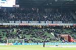 08.03.2019, Weserstadion, Bremen, GER, 1.FBL, Werder Bremen vs FC Schalke 04<br /> <br /> DFL REGULATIONS PROHIBIT ANY USE OF PHOTOGRAPHS AS IMAGE SEQUENCES AND/OR QUASI-VIDEO.<br /> <br /> im Bild / picture shows<br /> Banner / Spruchband der Schalke 04 Fans im G&auml;steblock mit Schriftzug: &quot;Was auch immer passiert, eins bleibt bestehen...&quot;, <br /> <br /> Foto &copy; nordphoto / Ewert